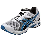 ASICS Men's GEL-DS Trainer 14 Running Shoe,White/Brilliant Blue/Black,11.5 D US