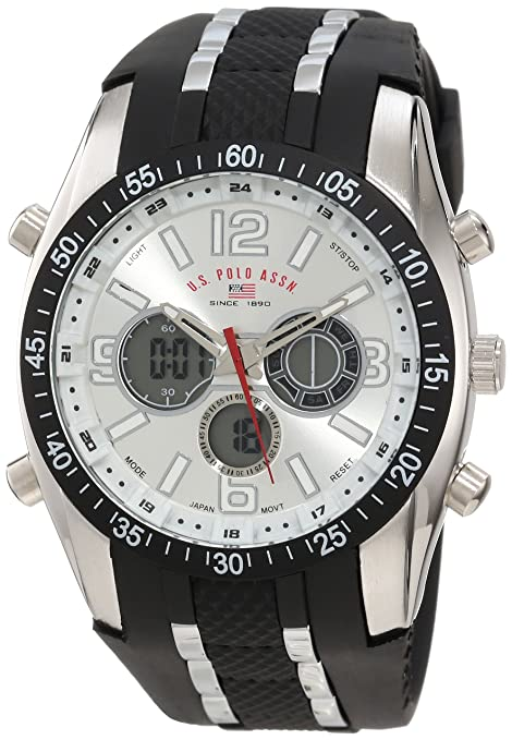 U-S-Polo-Assn-Sport-Men-s-US9061-Watch-with-Black-Rubber-Strap-Watch