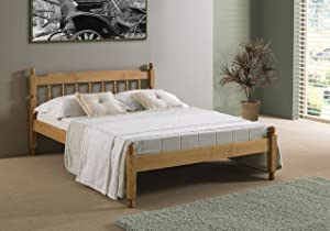 4&'6 COLONIAL SPINDLE BED IN WAXED PINE       Customer reviews and more information