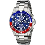Invicta Men's 1771 Pro Diver Collection Stainless Steel Chronograph Watch (Color: Silver/Steel)