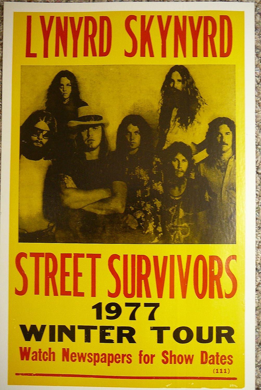 lynyrd skynyrd 1977 concert ticket street survivors tour fresno ca. Black Bedroom Furniture Sets. Home Design Ideas