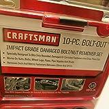 Craftsman Impact Grade Bolt Out 10 Piece Damaged Bolt/Nut Remover Set #52165