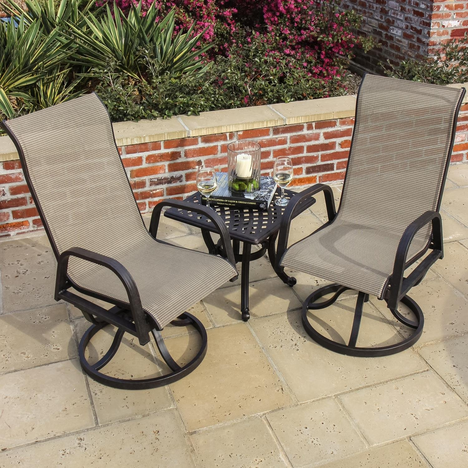 Magnificent Madison Bay 2 Person Sling Patio Bistro Set With Cast Unemploymentrelief Wooden Chair Designs For Living Room Unemploymentrelieforg