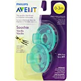 Philips AVENT 2 Piece BPA Free Soothie Pacifier, 0-3 months, Vanilla Scented (Color: Vanilla Scented, Tamaño: 0-3 Months)
