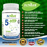 5-HTP 100mg 200mg - 180 Vegetarian Capsules For Appetite Suppressant, Mood Enhancer Weight Loss Pills - Naturally Increases Serotonin, Promotes Positive Mental Health & Supports Healthy Sleep. As Seen On Dr Oz. 6 Months Supply. Best 100% Money Back Guarantee.