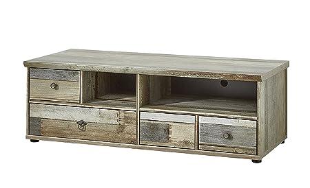 Stella Trading BZDDD01030 Fernsehschrank Driftwood Fernsehtisch Longboard, Holz, braun, 130 x 43 x 52 cm