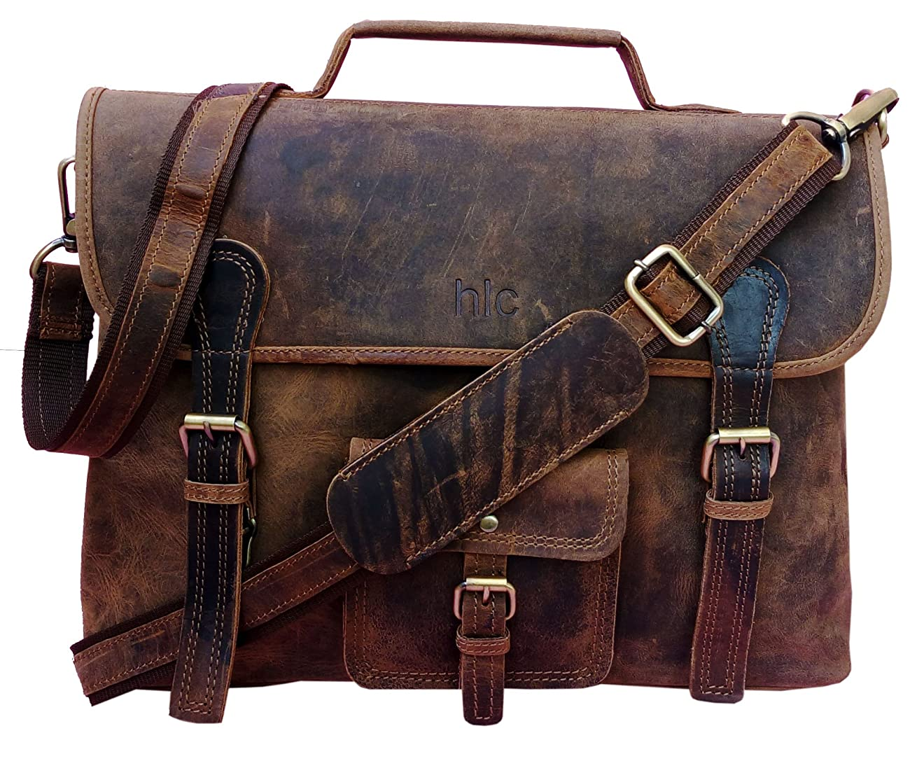 Handolederco. Vintage Leather Laptop Bag 15