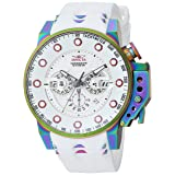 Invicta Men's 'I-Force' Quartz Stainless Steel and Silicone Casual Watch, Color:White (Model: 25277)