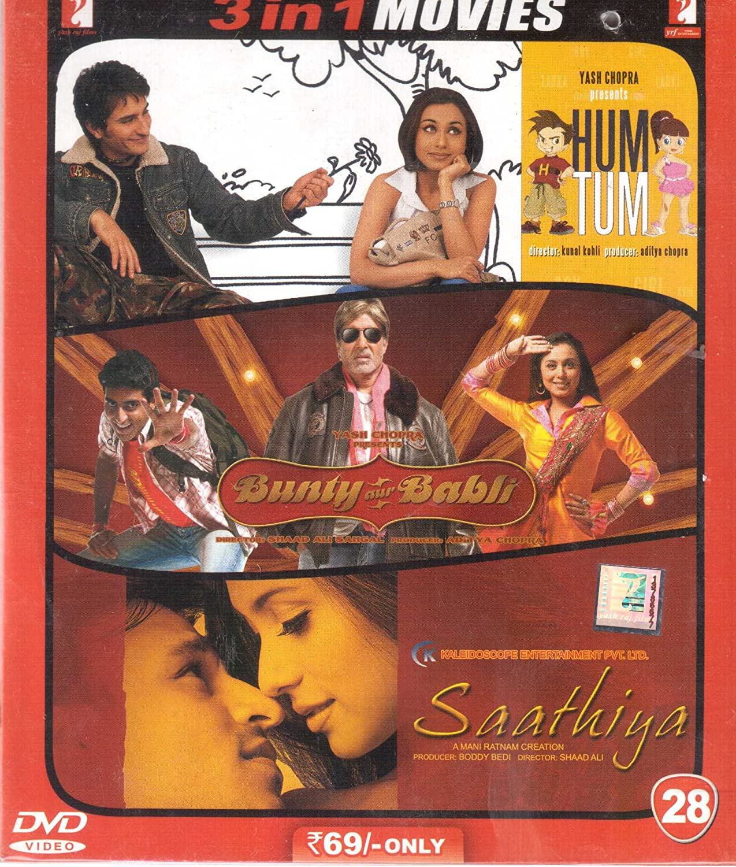 Upto 50% Off On Movies By Amazon | Hum Tum/Bunty Aur Babli/Saathiya @ Rs.34