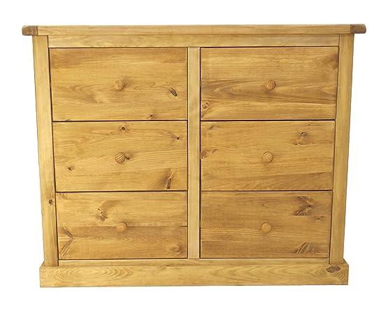 Cabinet bit 3Plus a  cassetti con pomello in legno/gonna quadrato, legno, cerato