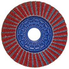Norton Twinstar Abrasive Flap Disc, Type 27, Round Hole, Plastic Backing, Ceramic/Zirconia Alumina