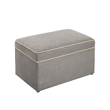 Amazon.com: Baby Relax Hadley Nursery Storage Ottoman for Baby Gliders, Dark Taupe: Kitchen & Dining