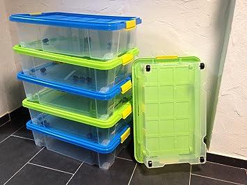 6 Stuck Unterbettkommode Aufbewahrungsbox Stapelbox Eurobox 60 X 40