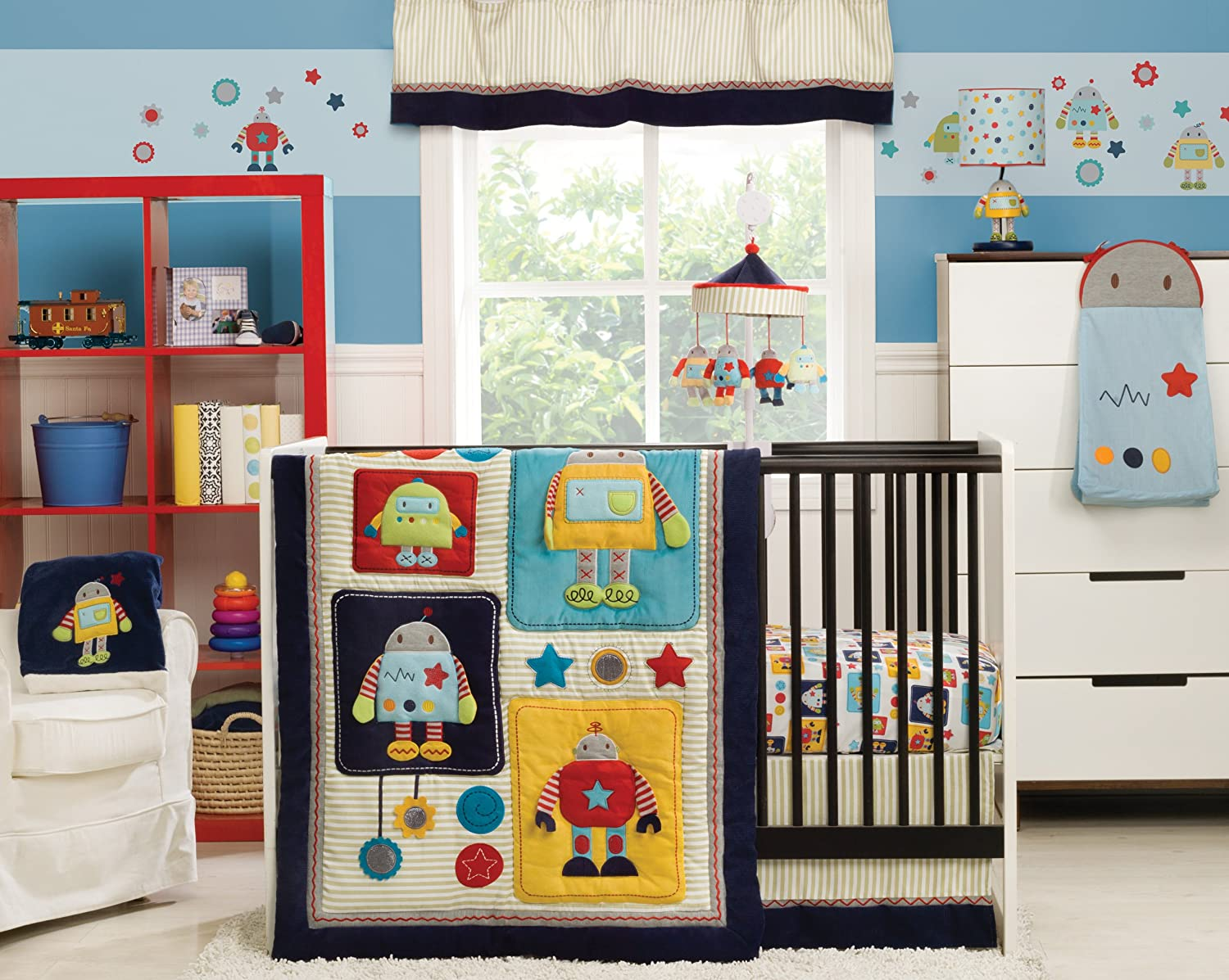 Kidsline Robots Play Crib Bedding