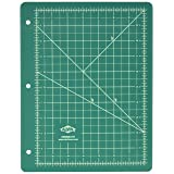 Alvin Professional Self-Healing Cutting Mat for 3-Ring Binder, Green/Black (GBM0811H) (Color: Green/Black, Tamaño: 8 1/2
