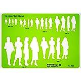 Alvin TD33 Female Human Figure Template (Color: Green)