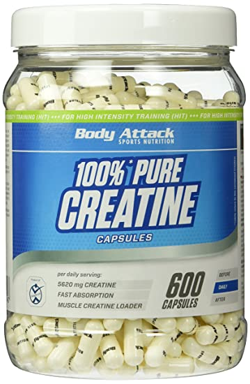 Body Attack Creatine- 600 Kapseln , 1er Pack (1 x 552 g)