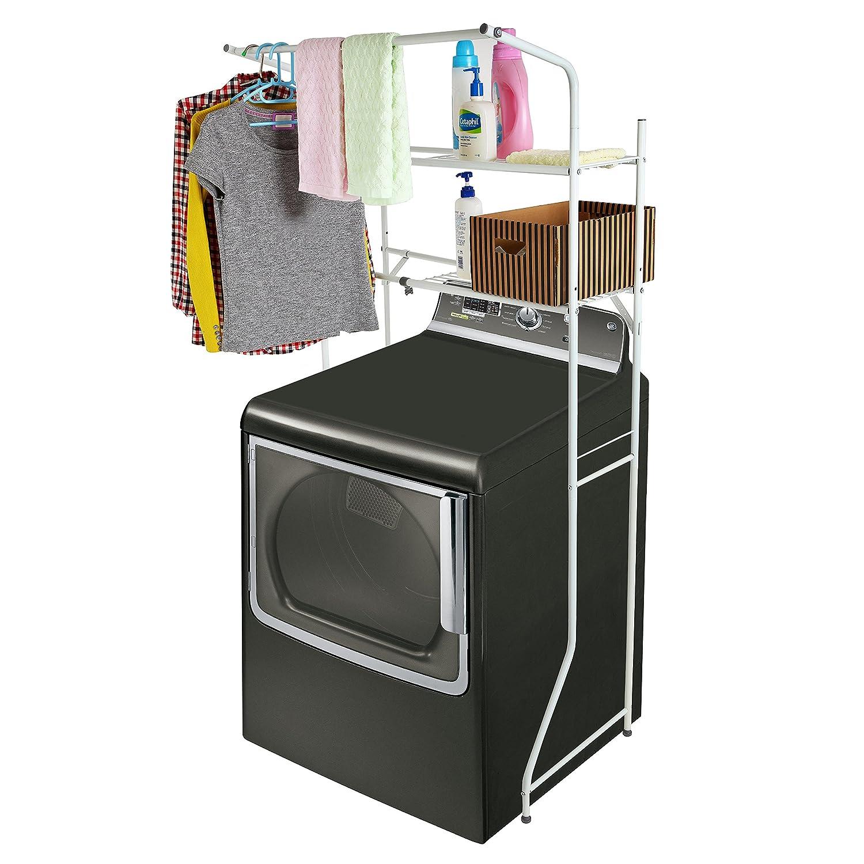 Storage rack shelf adjustable white metal space saver organize laundry room new ebay - Small space storage shelves model ...