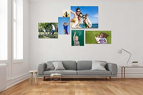 Cuadro PVC 100% personalizado Collage 2| Varias Medidas 200 x 200 cm |Facil colocación | Decoracion Habitación |Conjunto de fotografias|Personalizadas|Adaptadas a las medidas por cliente | Multicolor ||