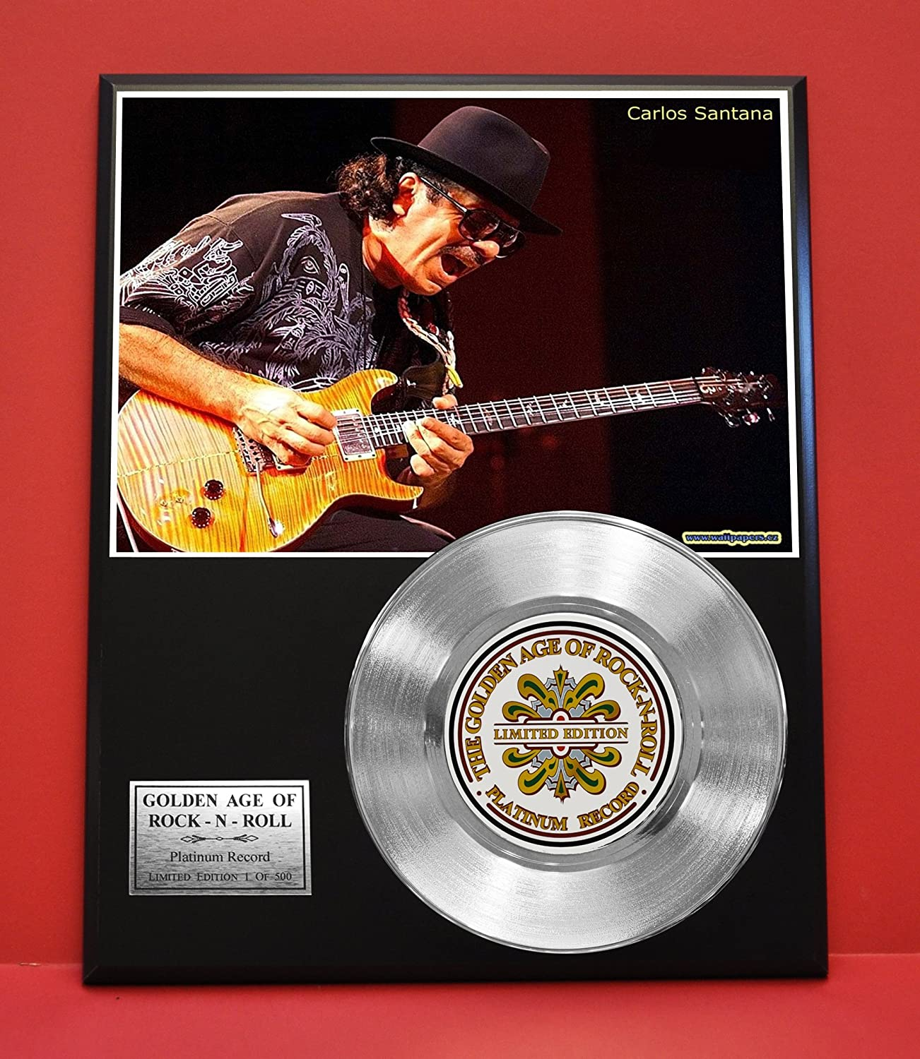 Santana Limited Edition Non Riaa Platinum Record Display - Award Quality Music Memorabilia Wall Art