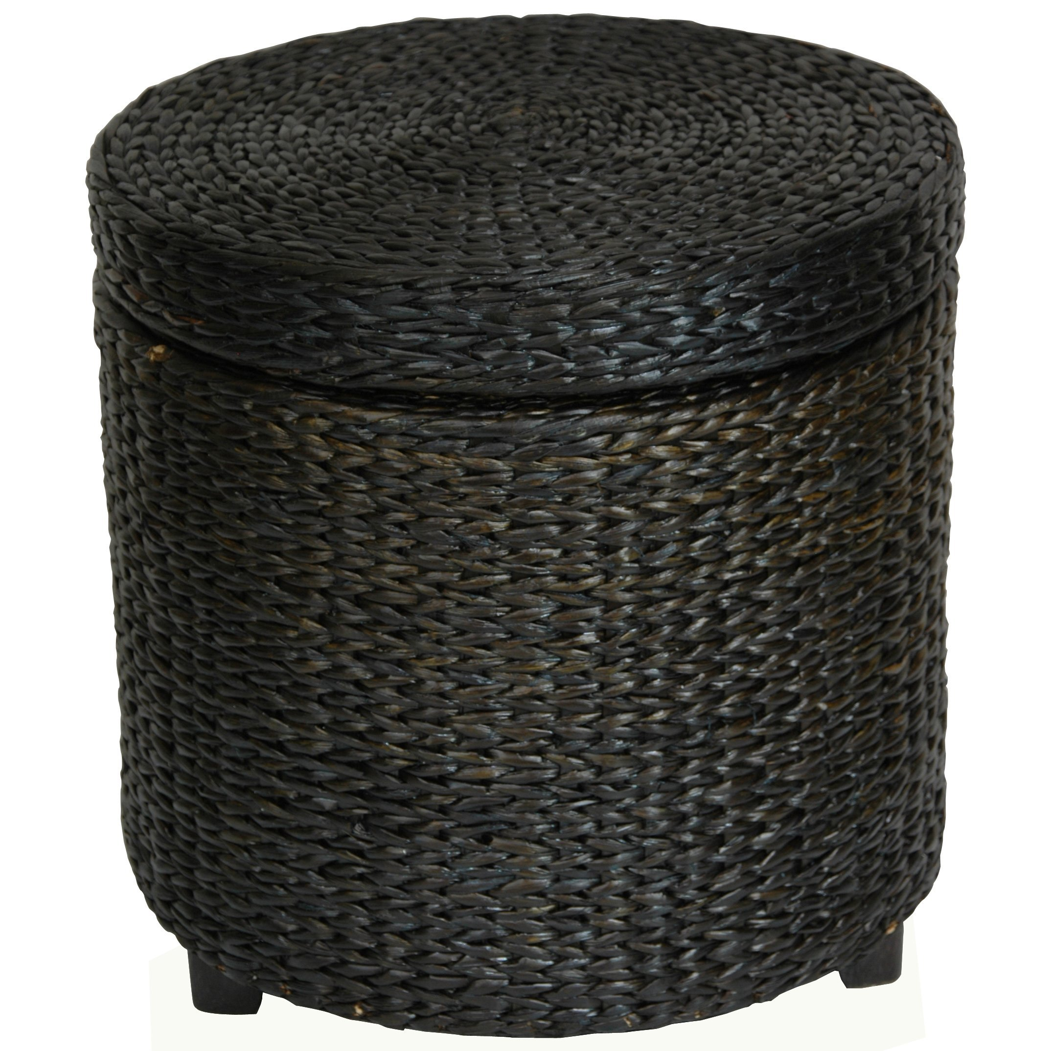 Round Wicker Coffee Table With Stools: Oriental Furniture Most Affordable Low Price End Table, 17