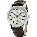Montblanc Men's 'Star' Swiss Automatic Stainless Steel and Leather Dress Watch, Color:Brown (Model: 106462)