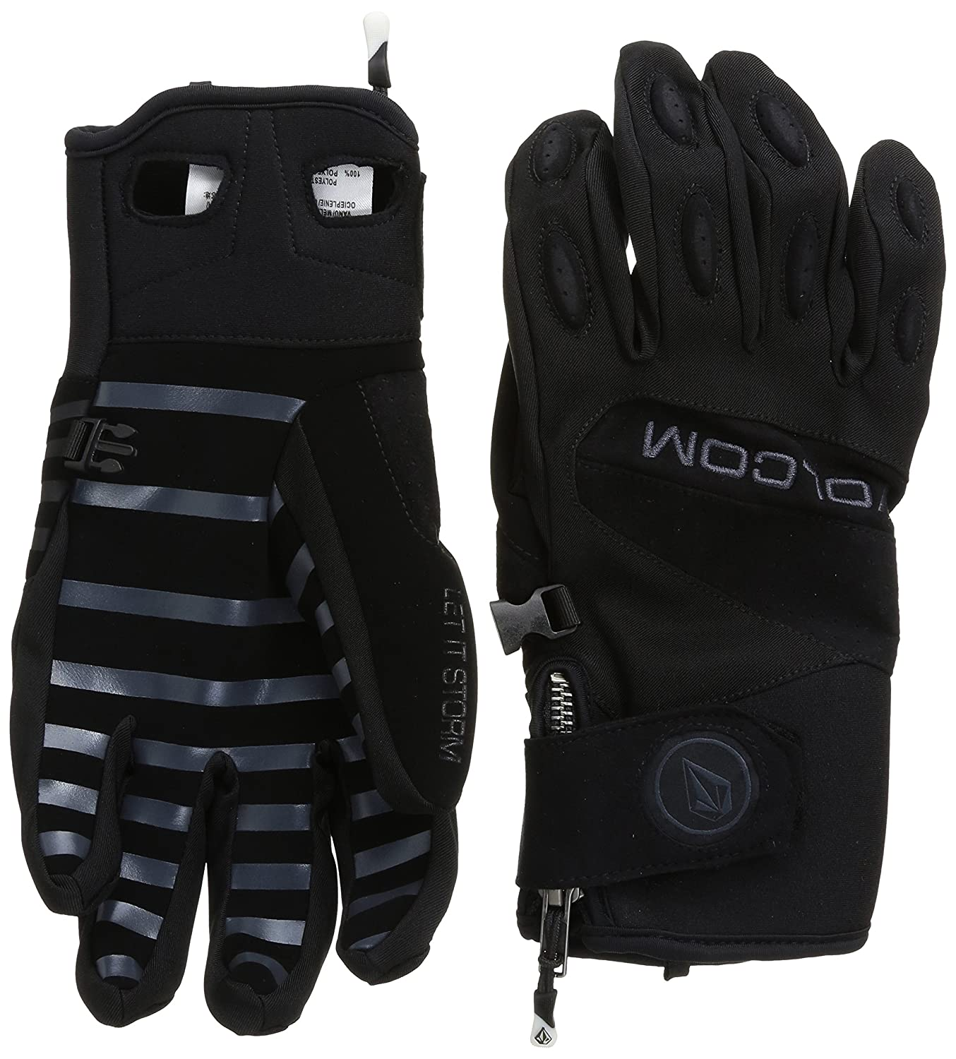Volcom Men's USSTC Pipe Glove volcom let it storm glove black