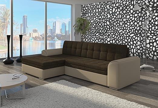 Couch Couchgarnitur Sofa Polsterecke CF13 Ottomane links, Soft 33/ Sawana 16 (die Ottomane kann schriftlich kostenlos auf die andere Seite geändert werden) Wohnlandschaft Schlaffunktion Wohnzimmer Kinderzimmer Gästezimmer