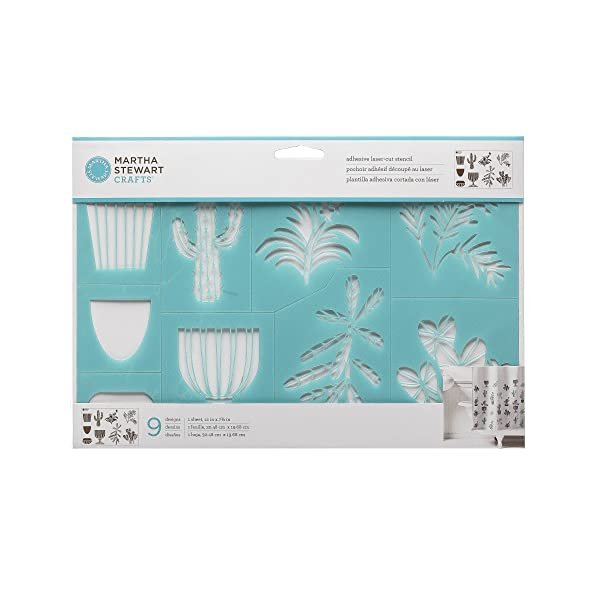 Martha Stewart 17641 Laser-Cut Potted Plants Stencil (Color: Not Applicable)
