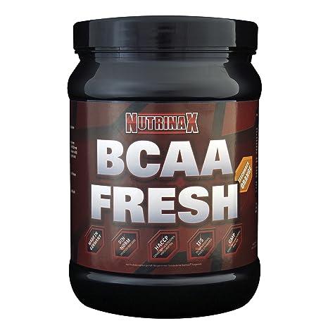 Nutrinax BCAA Fresh - BCAA/Glutamin Pulver, Geschmack Orange, 1er Pack (1 x 500 g)