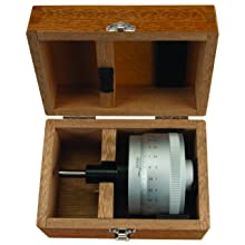 "Mitutoyo 153-302 Micrometer Head, High-Res Model, 0-1"" Range, 0.00001"" Graduation, +/-0.00004"" Accuracy, Plain Thimble, Flat Face"