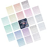 Self-Adhesive Rhinestones Bulk Pack - Assorted 3300 PCS - 20 COLORS, 4 SIZES - Ideal for Face, Body, Makeup, Festival, Carnival, Crafts & Embellishments. Cortesia Jewel Gems Will Stick on Anything!