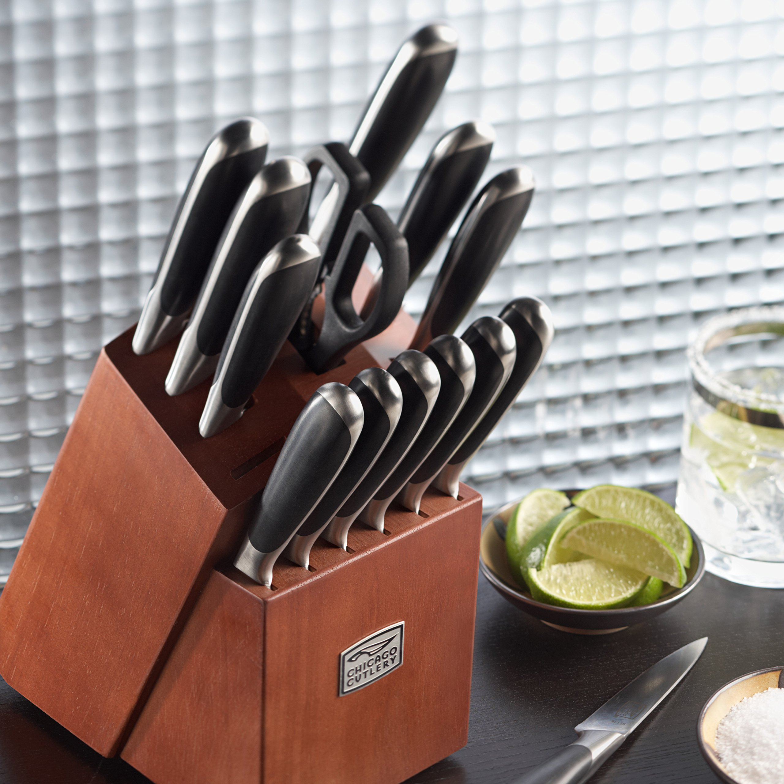 Chicago Cutlery Belden 15-Piece Block Knife Set