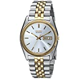 Seiko Men's SGF204 Stainless Steel Two-Tone Watch (Color: Silver)
