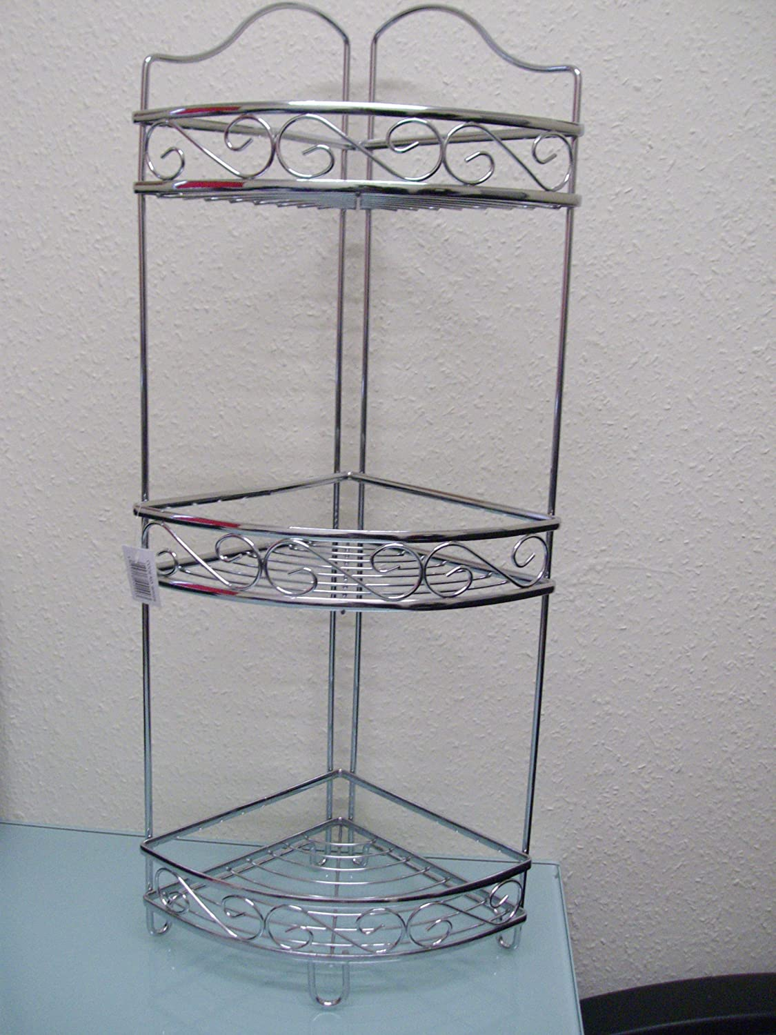 3 Tier Free Standing Corner Shelf Storage Caddy Organiser