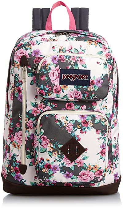 JanSport Backpack Austin Multi Grey Floral Flourish