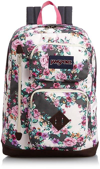 JanSport Backpack Austin Multi Grey Floral Flourish
