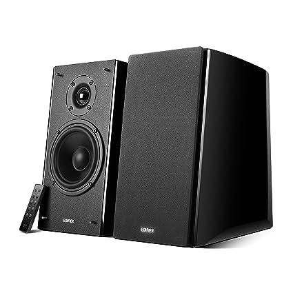 EDIFIER Studio R2000DB - Kit d'enceintes 2.0 Bluetooth (120 Watts) Avec télécommande IR et entrée optique