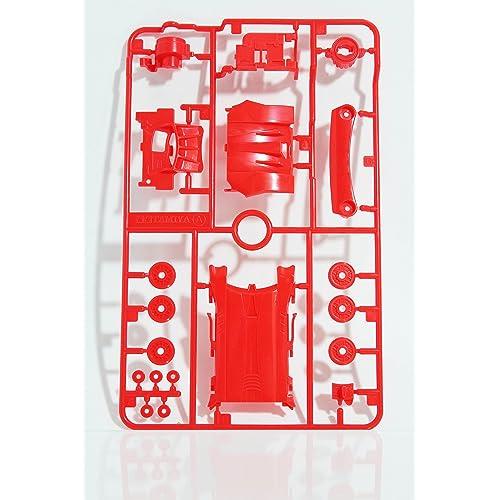 ミニ四駆 ARシャーシAパーツ レッド 単品販売 ◆アルマイト加工アルミスペーサーサンプル付属◆