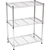 AmazonBasics 3-Shelf Shelving Unit (Chrome)