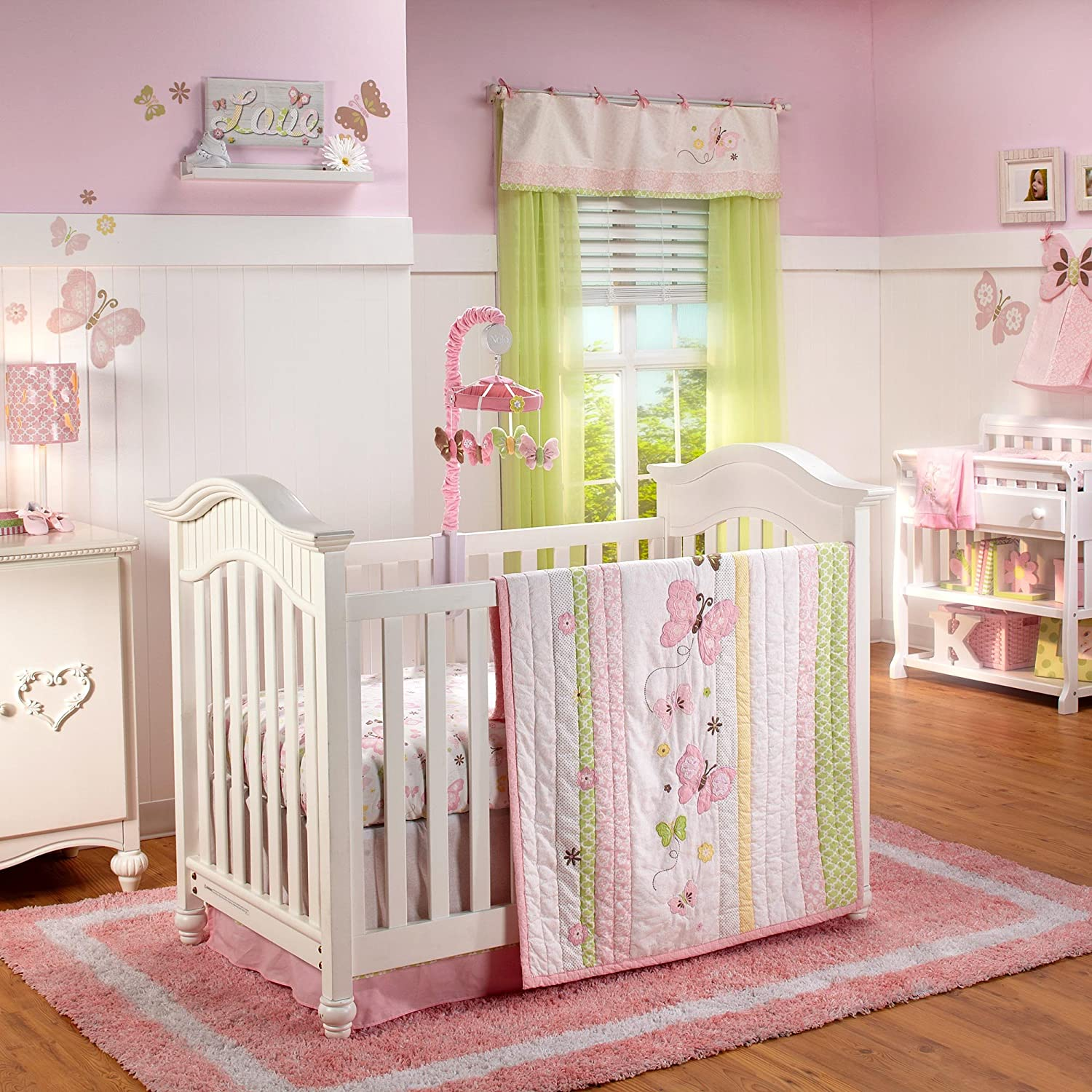Nojo Butterfly Love baby bedding