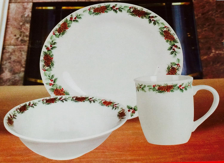 pine cone christmas dinnerware sets christmas wikii. Black Bedroom Furniture Sets. Home Design Ideas