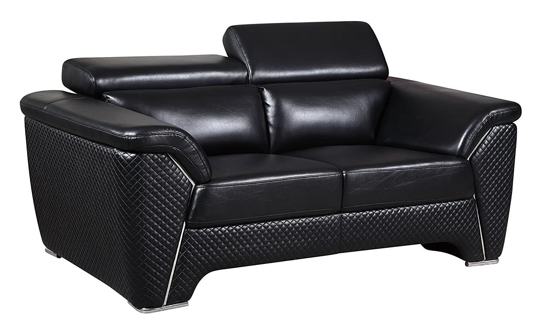 Global Furniture U8190 - DTP672/BC - L Blanche Loveseat - Black