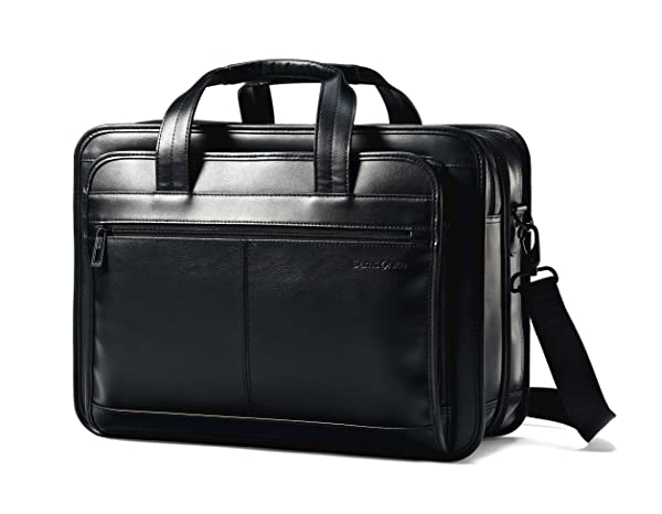 Samsonite Leather Expandable Briefcase 2016