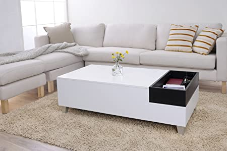 Furniture of America Audra Coffee Table with Serving Tray, White
