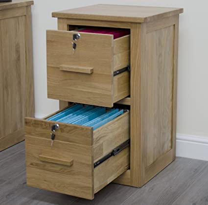 Arden Solid Oak Furniture Office Filing Cabinet With Locks