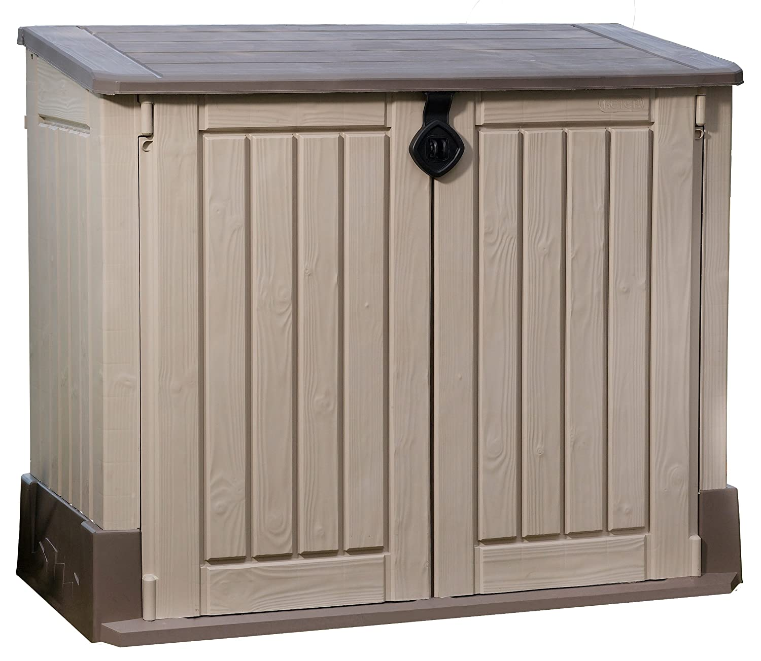 Project diy plans keter store it out storage shed x large for Small garden storage sheds