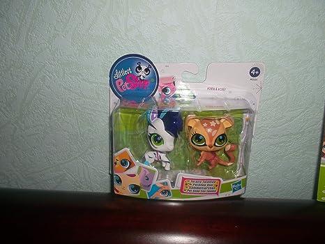 Littlest Pet Shop - A0531 - Poupée et Mini-Poupée - Zèbre et Chimpanzé