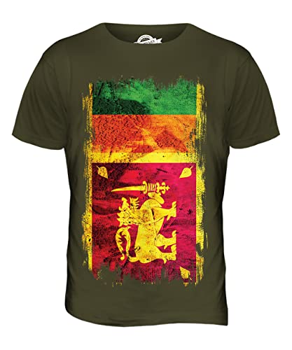 Sri Lanka Flag Grunge T Shirt