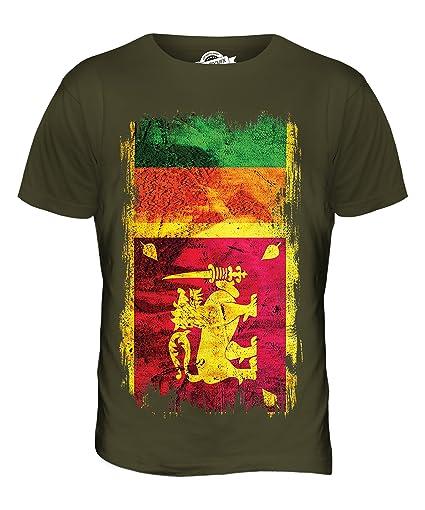 Sri Lanka Grunge Flag T Shirt
